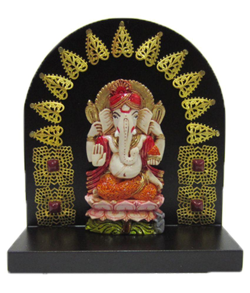 Earth Multicolour Resin Ganesha Idol