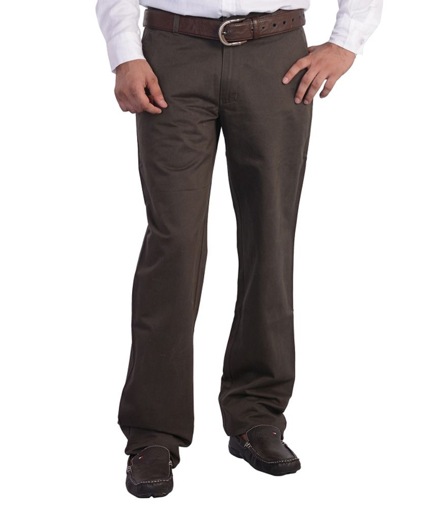 Mild Kleren Mens 100% Cotton Chinos Trouser (Dark Grey)
