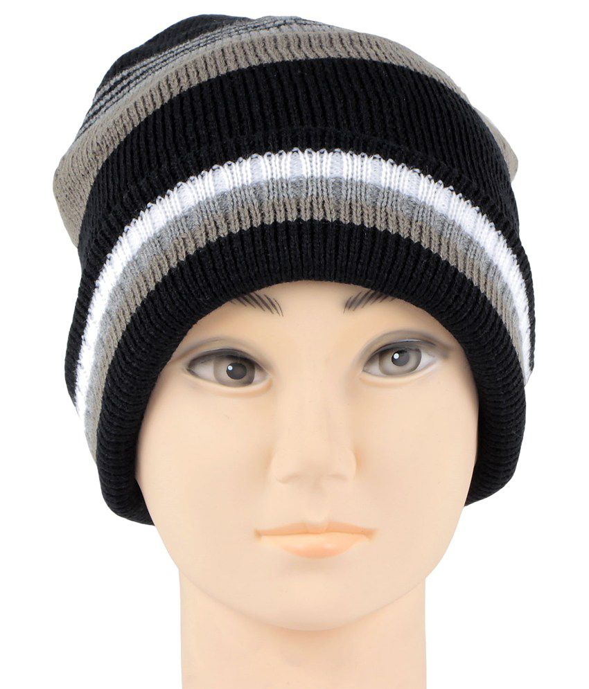 Bonjour Multicolour Woolen Cap For Men - Buy Online   Rs.  a5b32677f92
