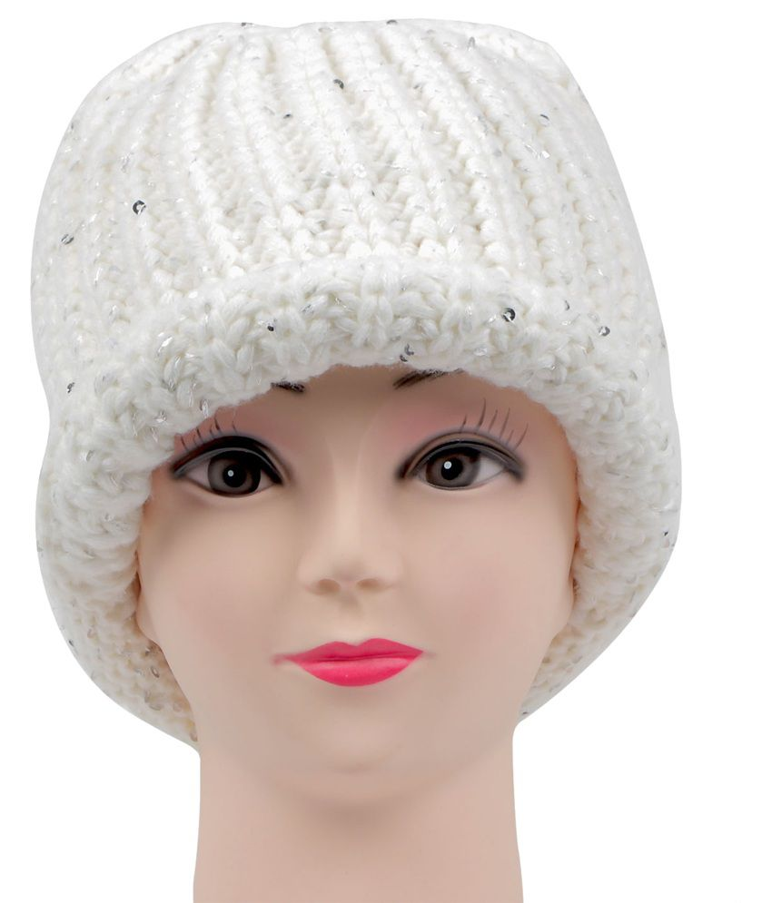 Bonjour White Woolen Cap For Women  Buy Online at Low Price in India -  Snapdeal c057e2933ef