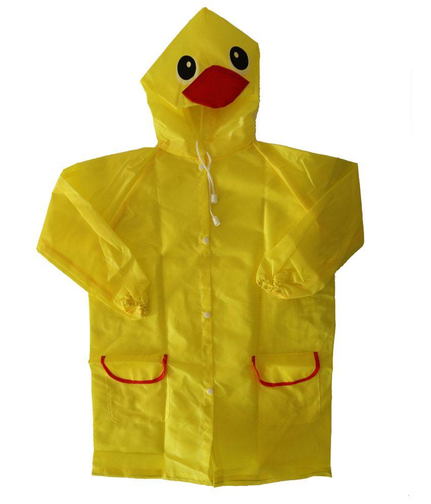 My Baby Things Yellow Duck Unisex Hooded Rain Coat