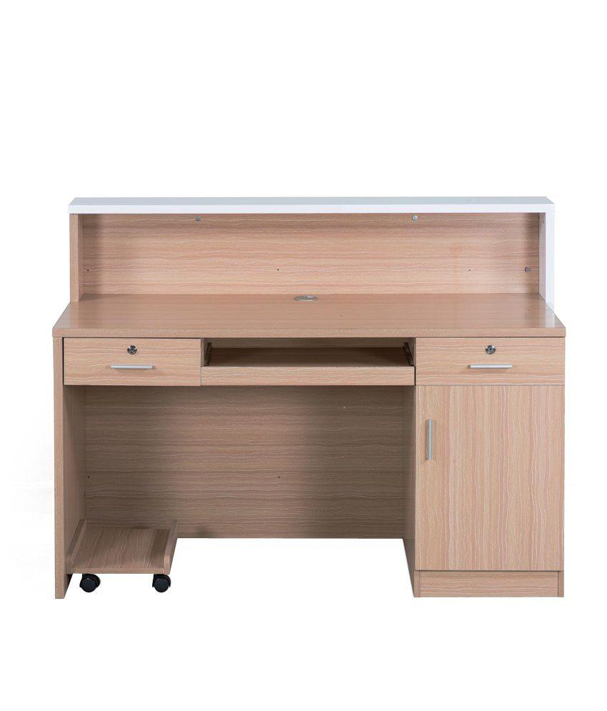 royaloak acacia reception table with white black finish buy rh snapdeal com
