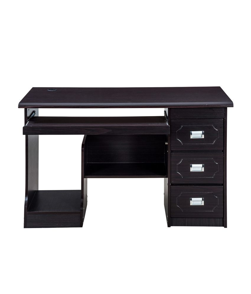 royaloak amber computer table with honey brown finish 1 2 m buy rh snapdeal com