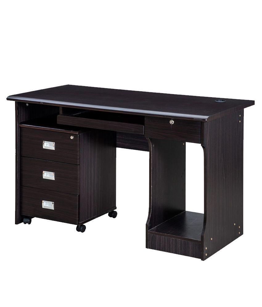 Royaloak Petal Office Table With Dark Finish Buy Royaloak Petal
