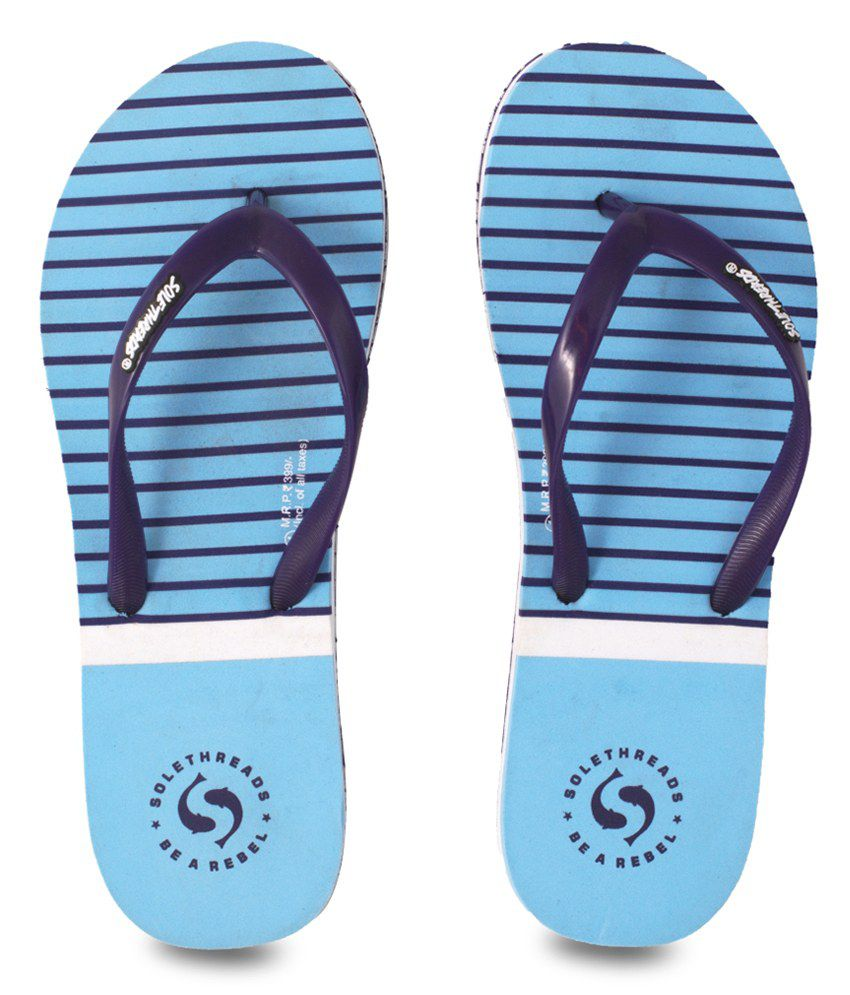 Sole Threads Nautica Blue Flip Flops
