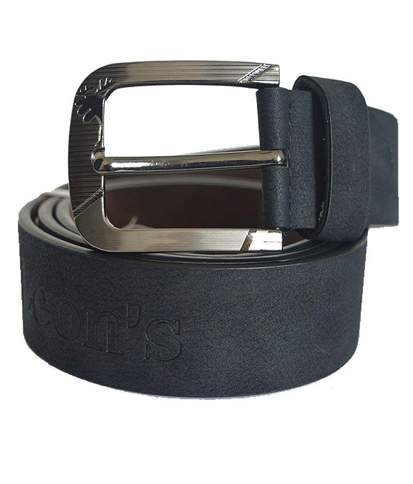 HS Retail Black Leather Belt