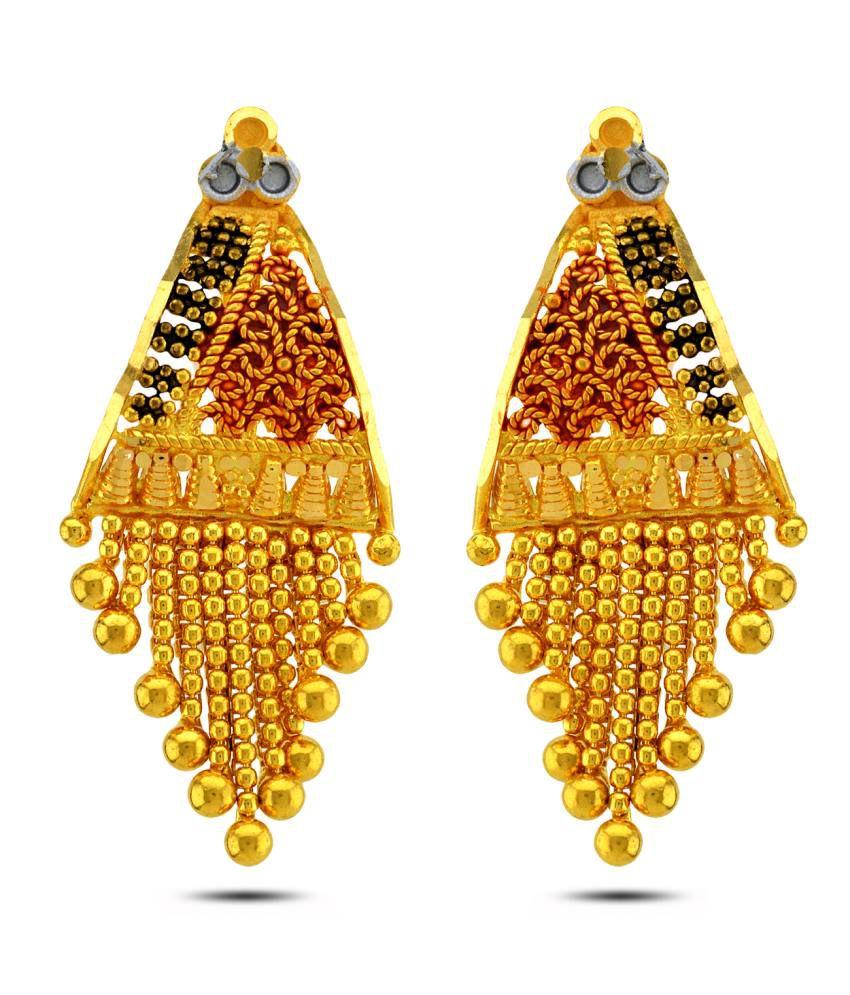 P.N.Gadgil Jewellers 22kt Gold Drop Earrings