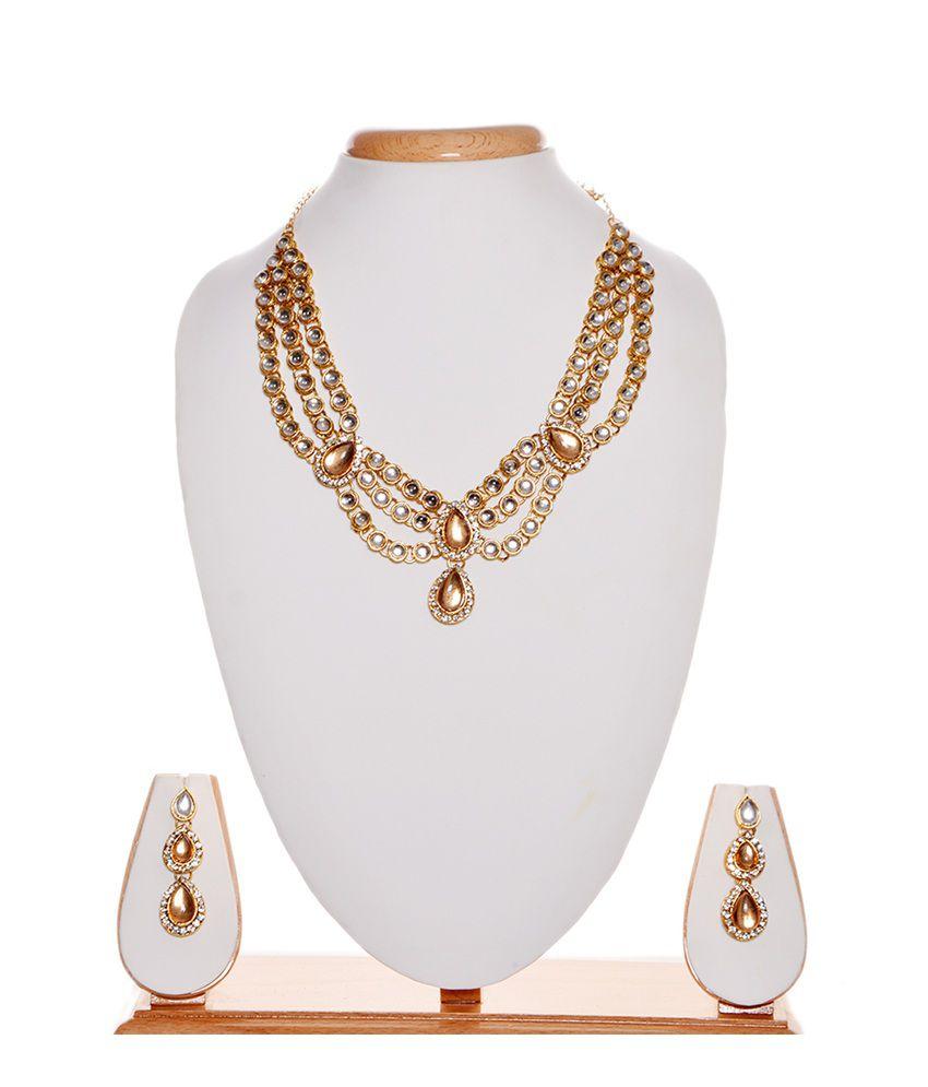 iGenie White Copper Necklace Set