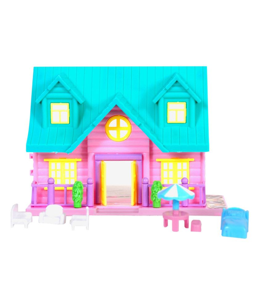 Surya pink polycarbonate doll house with accessories buy for House accessories online