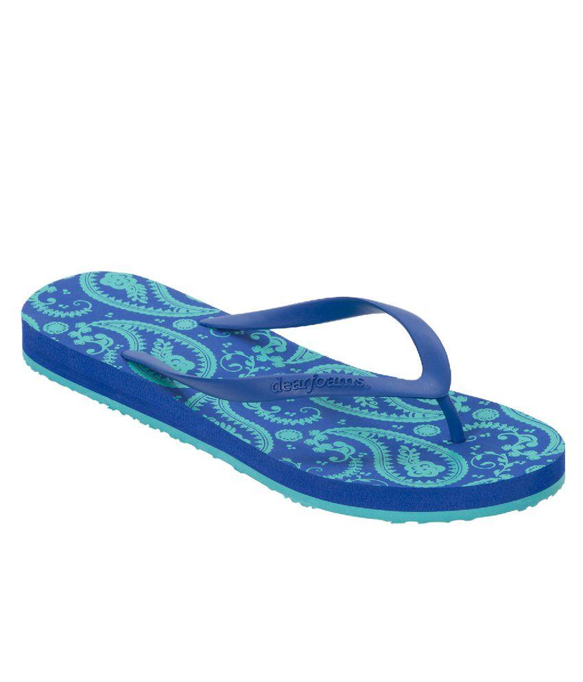 Dearfoams Blue Flip Flops