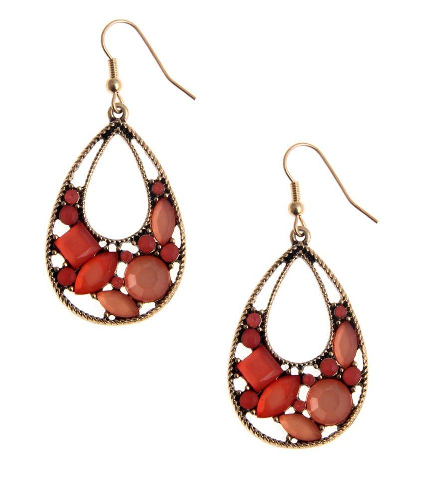 NIROSHA Multicolor Bohemian Contemporary Earrings for Women