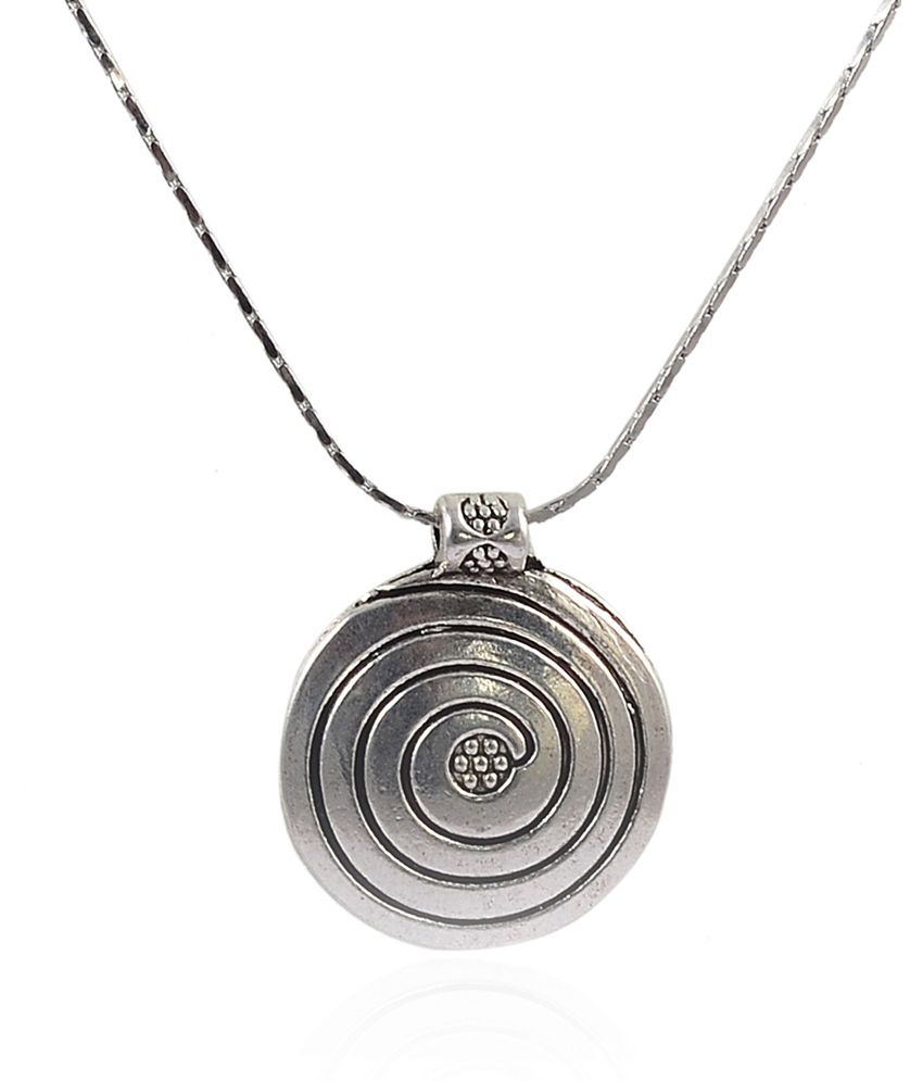 NIROSHA Tibetan Silver Contemporary Pendant Necklace for Women
