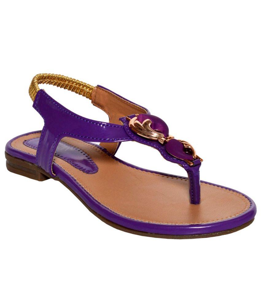Vinenzia Purple Sandals