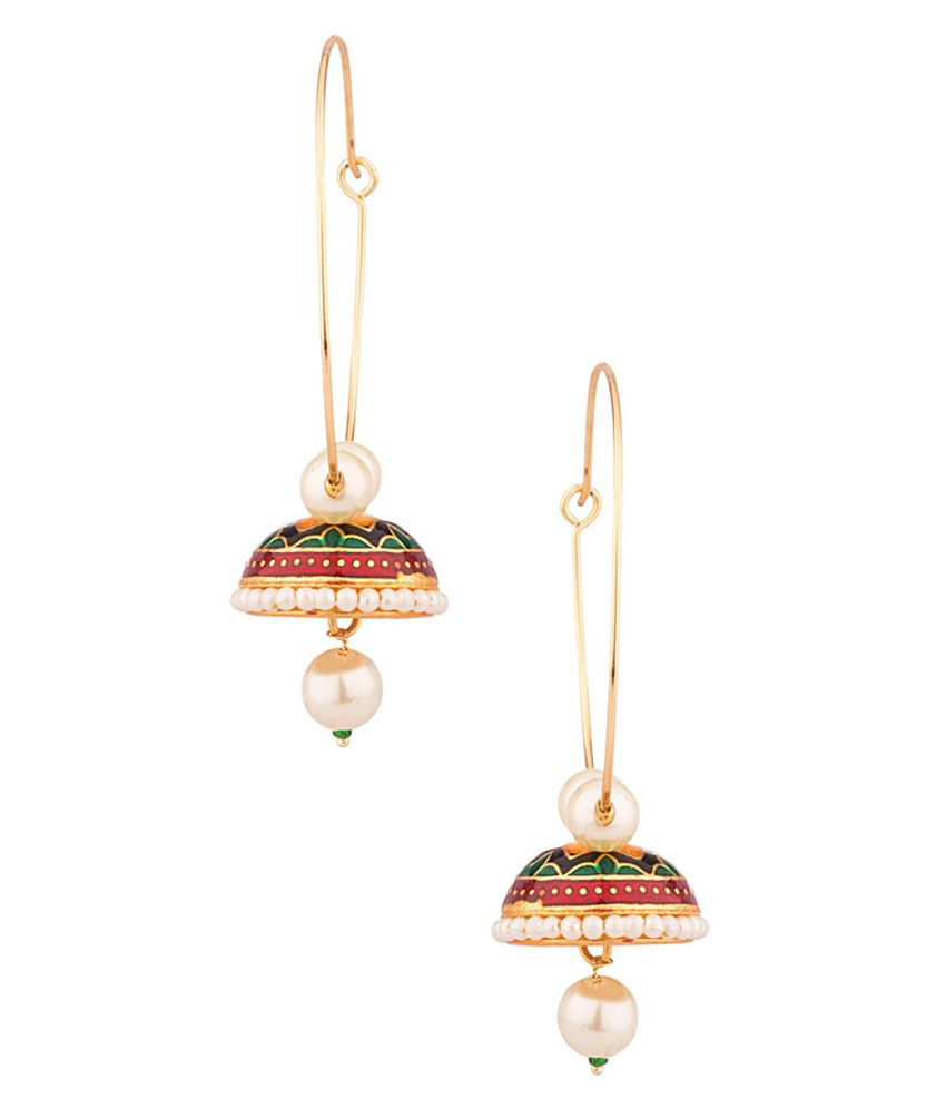 Voylla Yellow Gold Toned Earring That Personifies Style