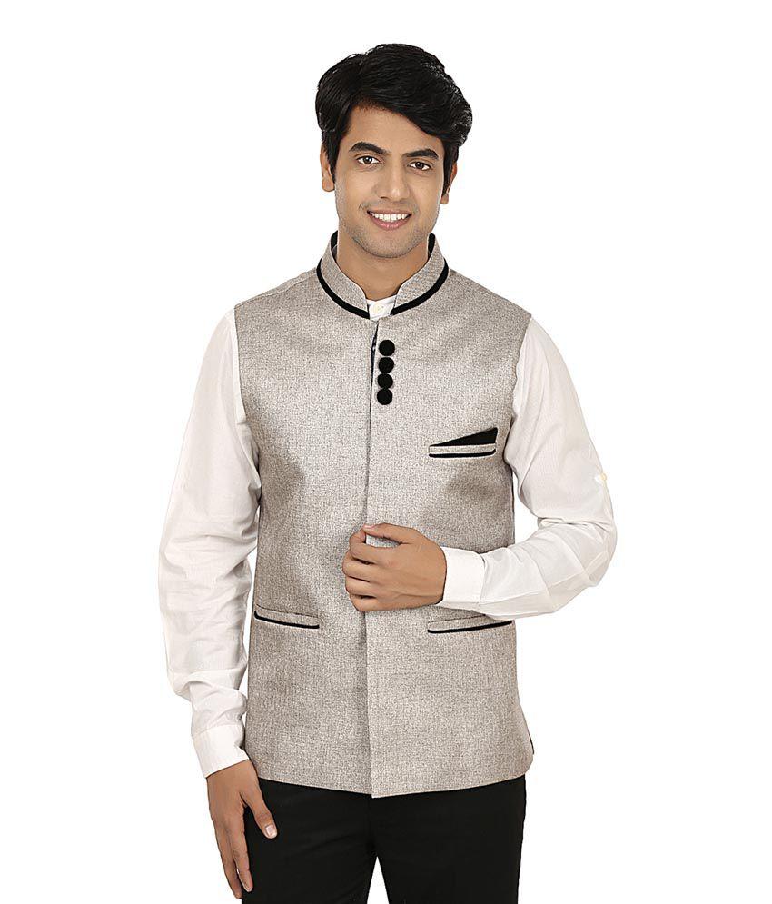 Platinum Studio Grey Cotton Waistcoat