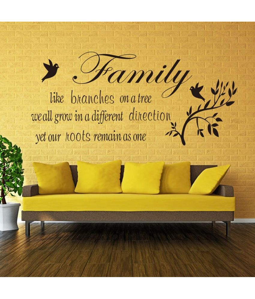 StickersKart Family Like Branches Wall Quote Wall Decor Black