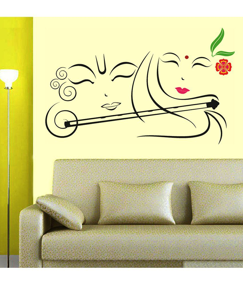 Wall stickers radha krishna - Stickerskart Devotional Pvc Multicolour Wall Stickers Stickerskart Devotional Pvc Multicolour Wall Stickers