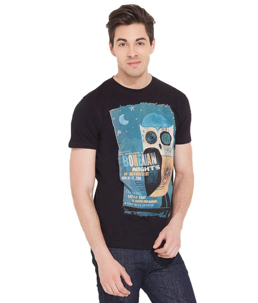 LLo Fashions Black Cotton Blend T-shirt