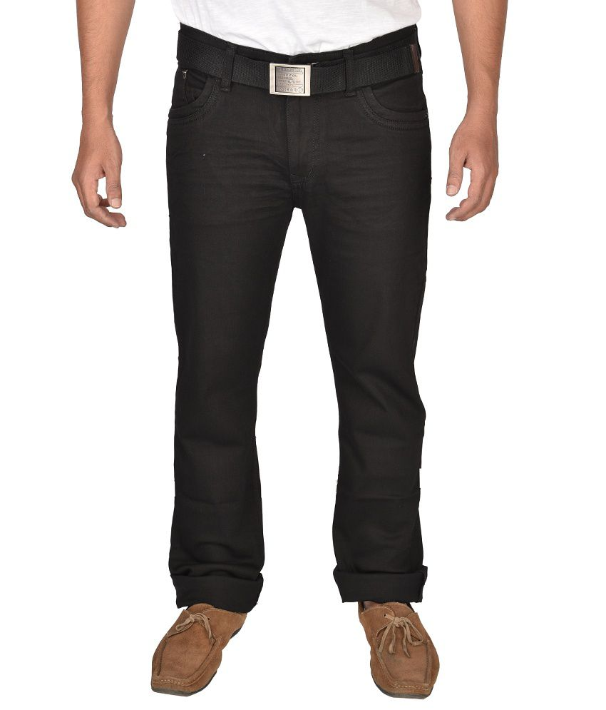 Poison Black Cotton Blend Jeans (Dx Spray)