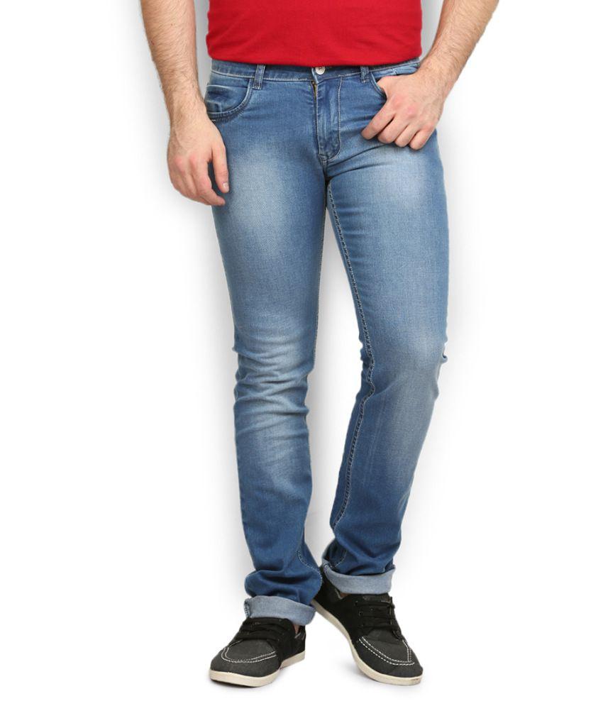 Police Blue Slim Fit Jeans
