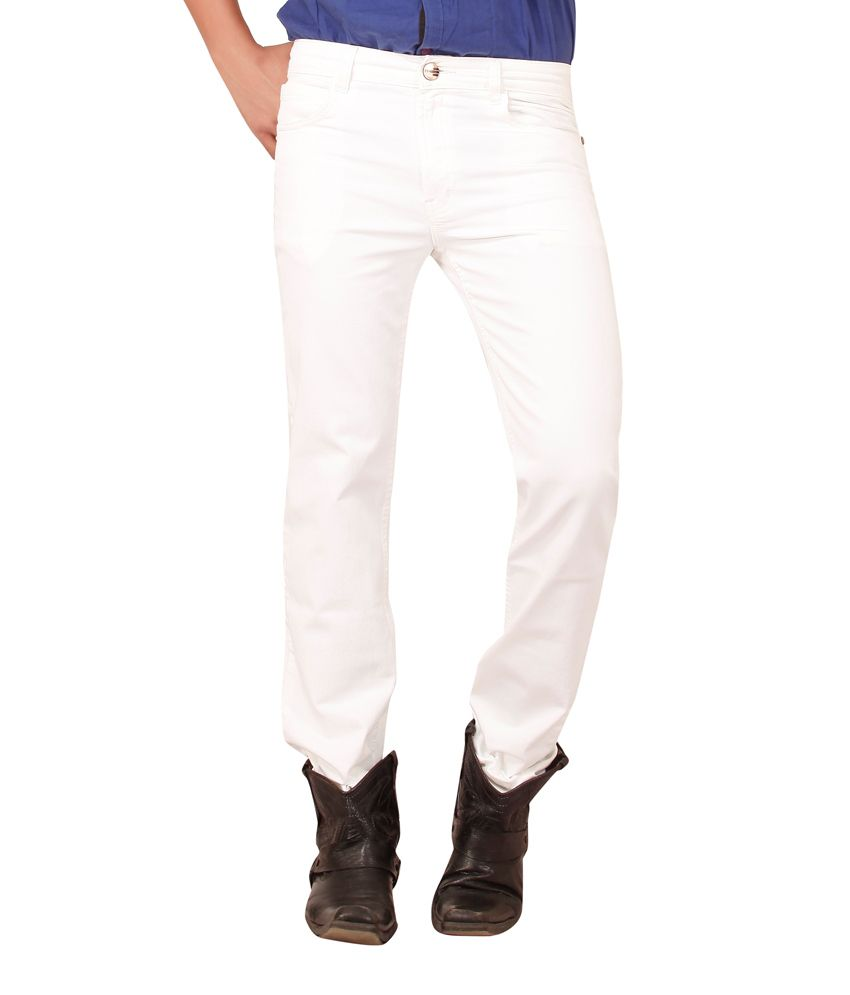 Carrie Jeans White Regular Fit Jeans