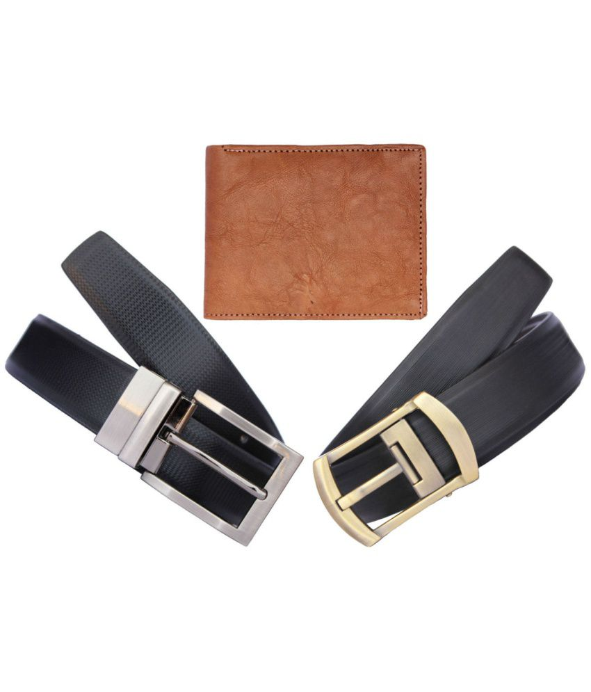 Discover Fashion Leather Belt And Wallet Combo Of 3