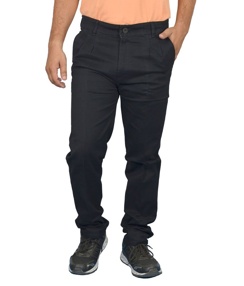 Jura Polo Black Regular Fit Casual Chinos