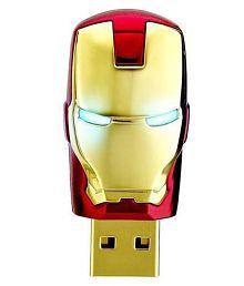 Quace 32 GB Cool Iron Man Red with glowing eyes Fancy USB Pen Drive