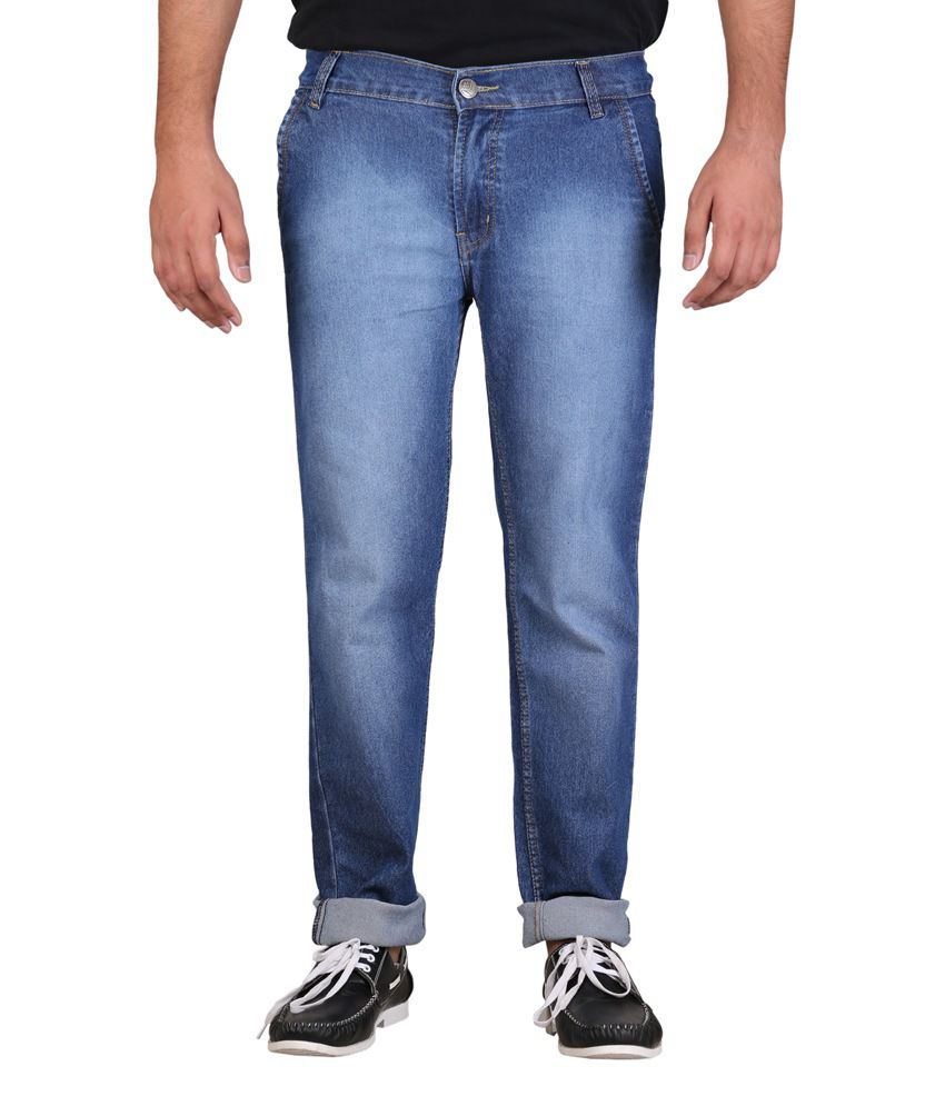 Ansh Fashion Wear Fashion Wear Blue Regular Fit Jeans