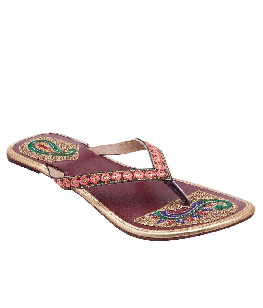 Royal Collection Maroon Flat Slip-Ons