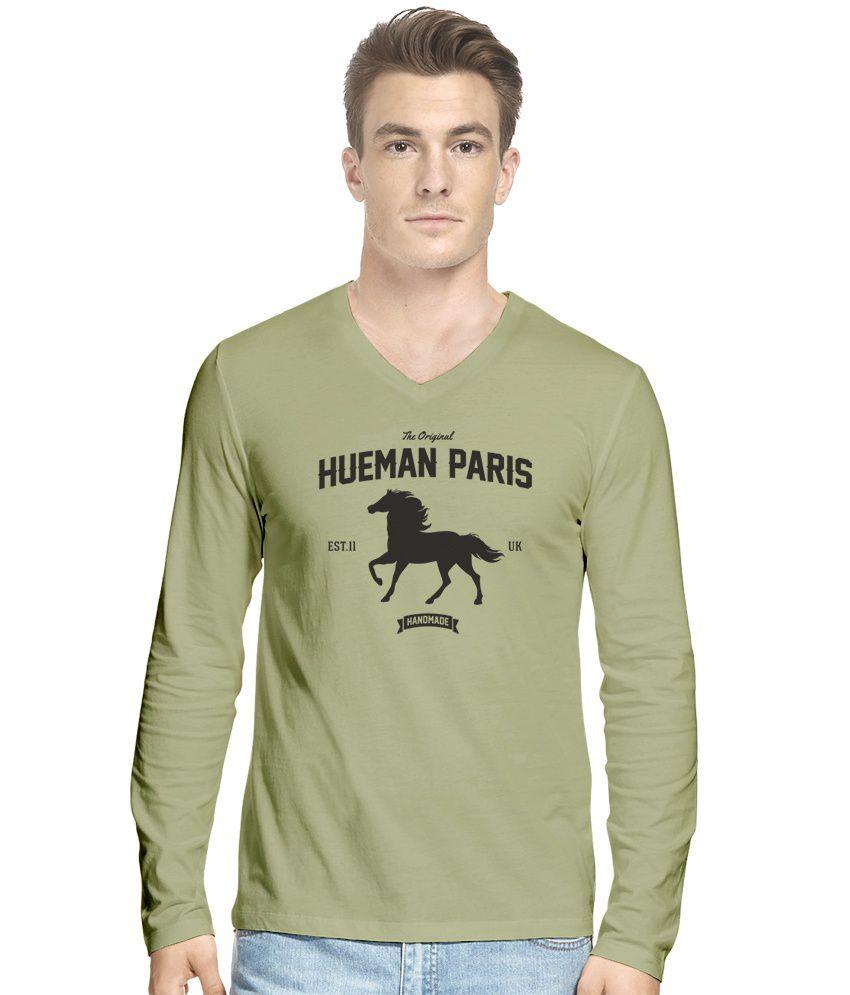Hueman Khaki Cotton T-Shirt