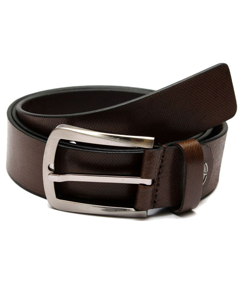 Krazoo Brown Leather Pin Buckle Formal Belt