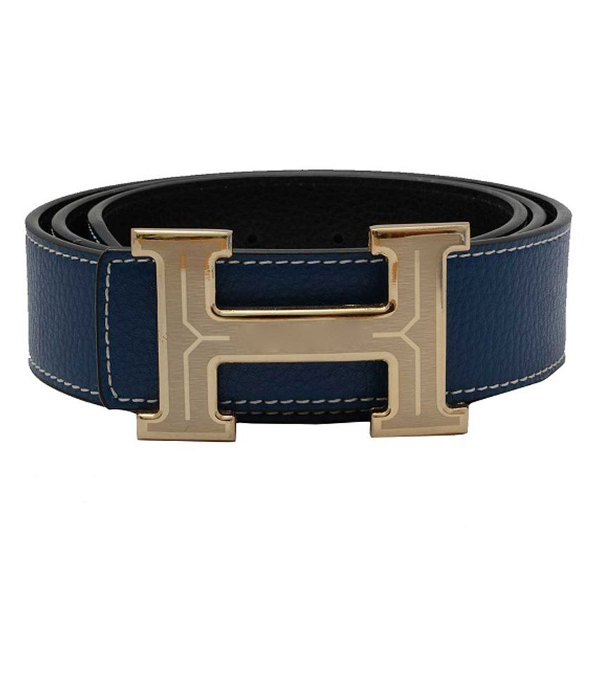 Monica Blue Leather Casual Belt