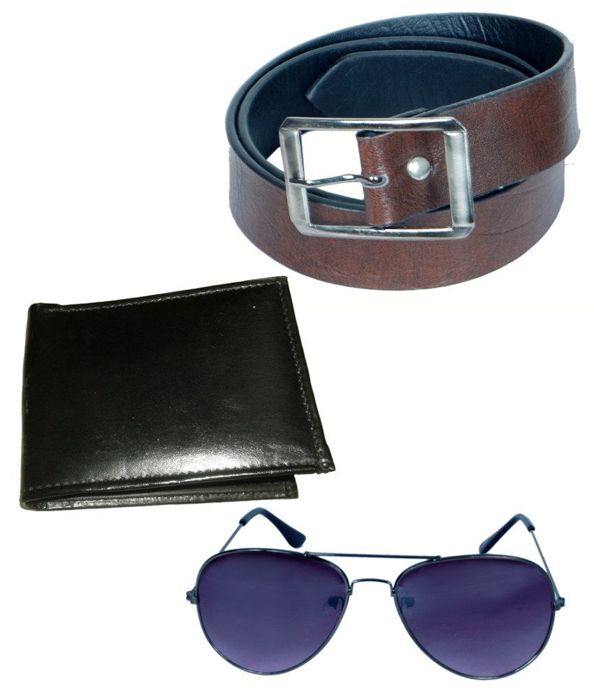 Kvell Be Proud Belt, Wallet and Aviator Sunglasses Combo