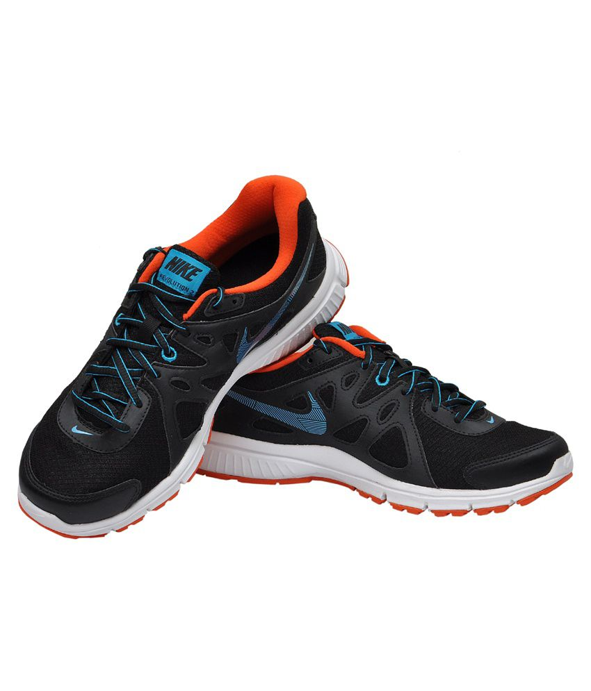 b060e6a21d3ab Nike Revolution 2 MSL Black and Lagoon Blue Sports Shoes - Buy Nike ...
