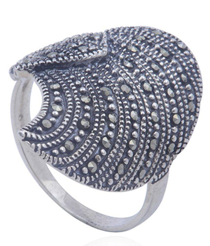 Jsilverart Black 925 Silver Oxodized Ring