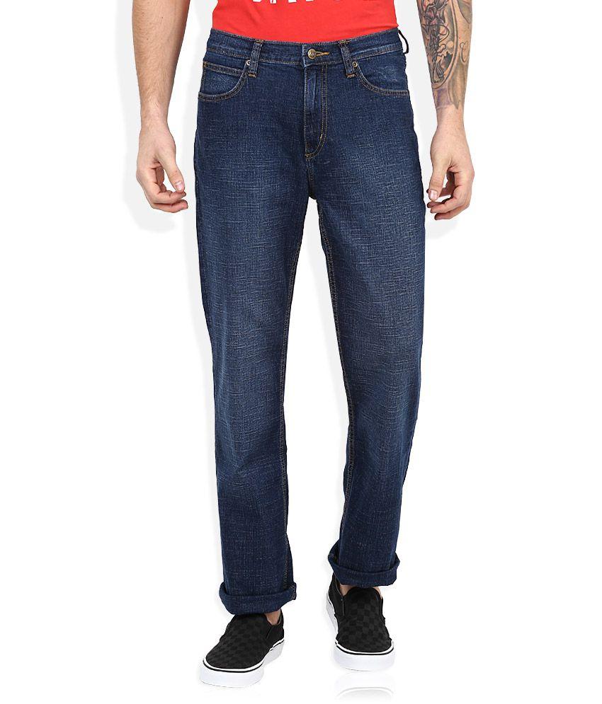Lee Blue Dark Wash Regular Fit Jeans