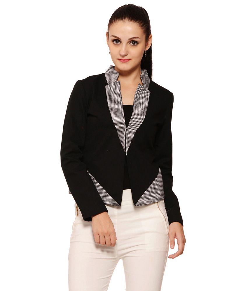 Palette Black Cotton Jackets