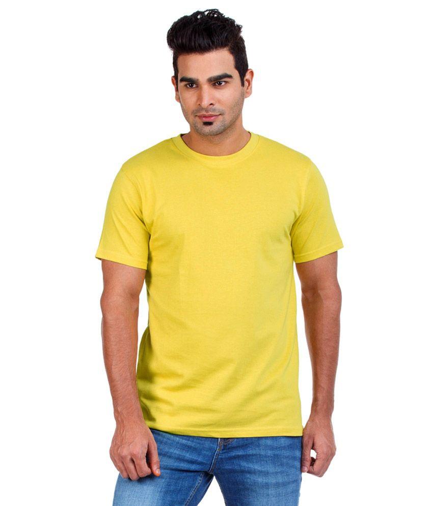 Glamorous Fashionwear Yellow Cotton T-shirt