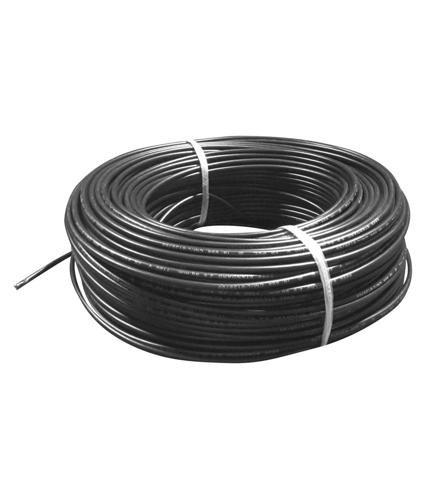 Buy Wipocab 6 Sq.mm Multi Strand Black Flexible Copper Wire Online ...