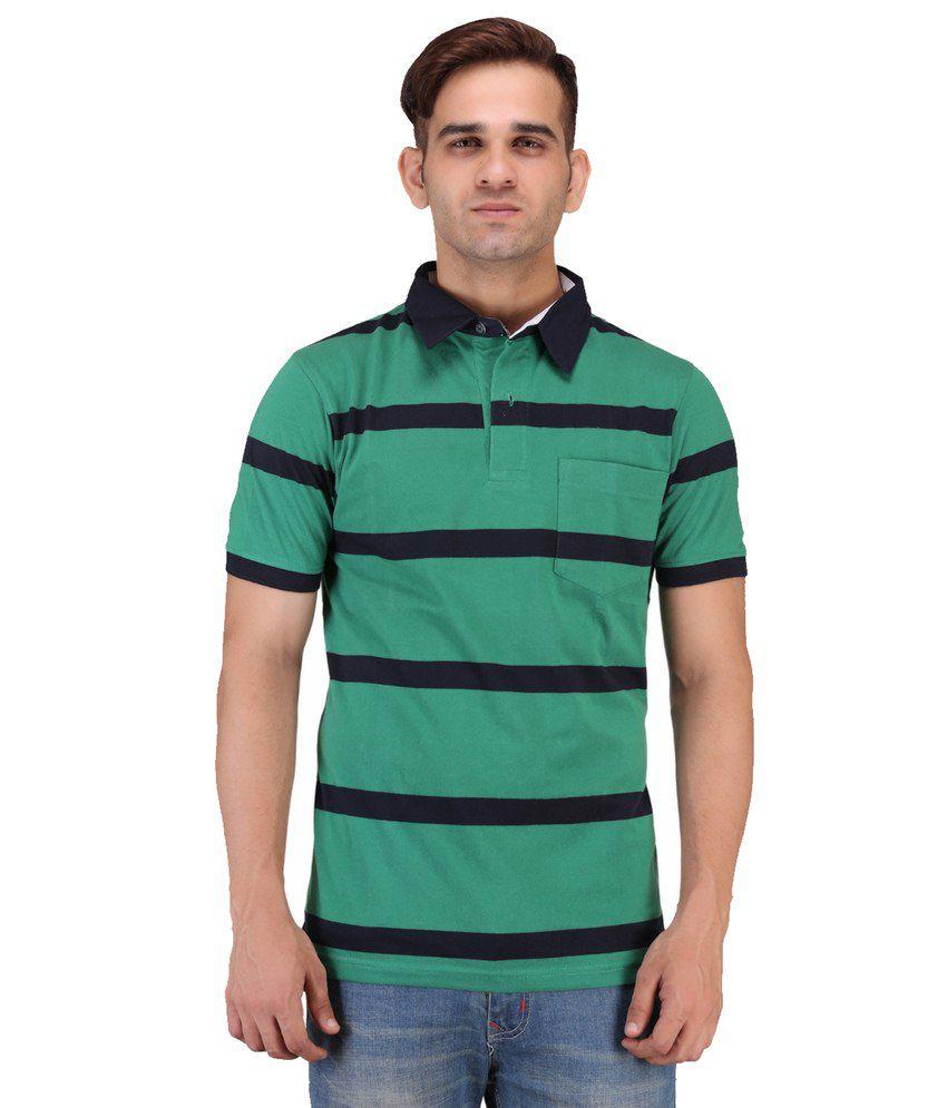 Keywest Green Cotton Polo T-shirt