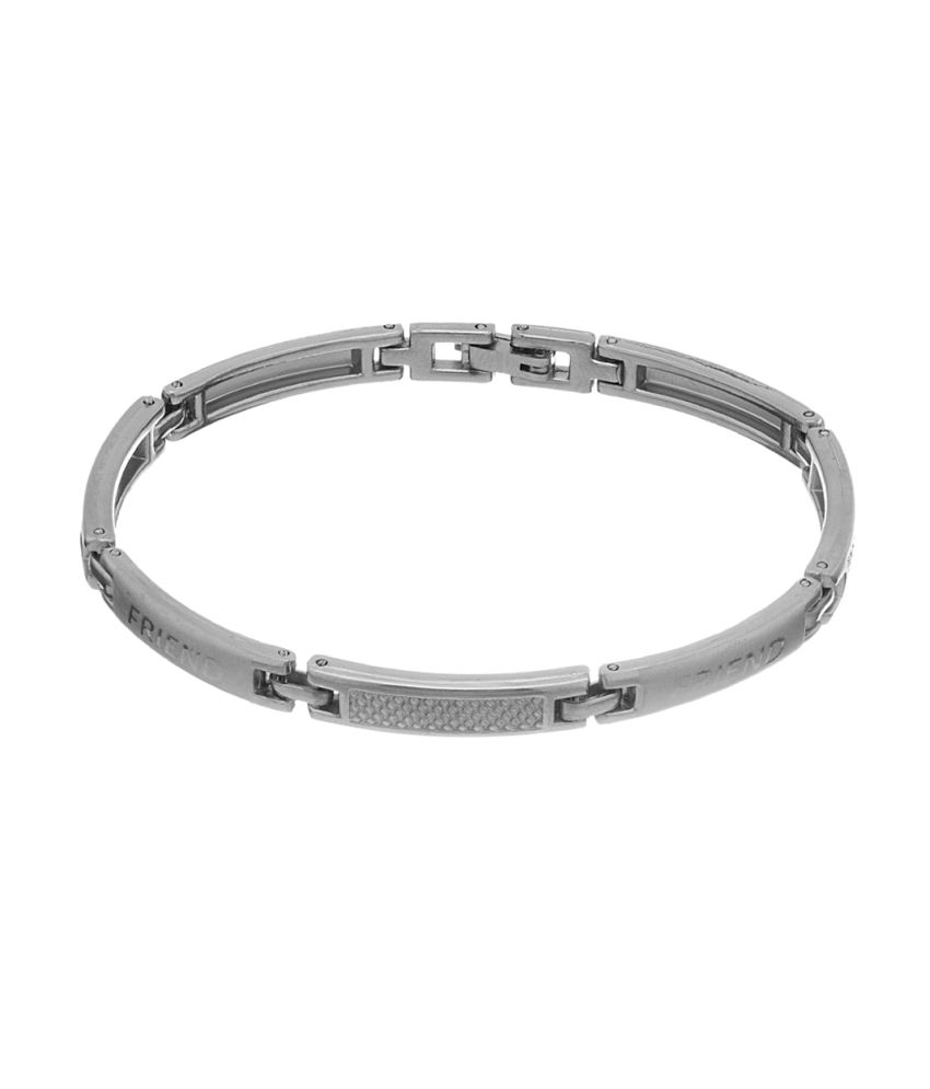 Voylla Silver Toned Friendship Day Tribute Bracelet
