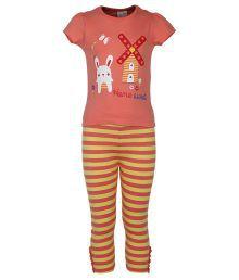 Fs Minklub Coral Short Sleeve Nightwear Set For Kids