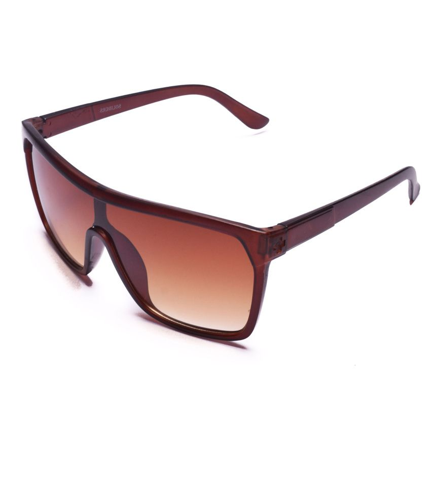 Super Traders Strc009 Brown Frame Rectangle Unisex Sunglasses