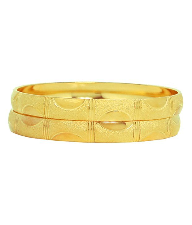 Asha Ambe Ornaments Gold Plated Bangle Set