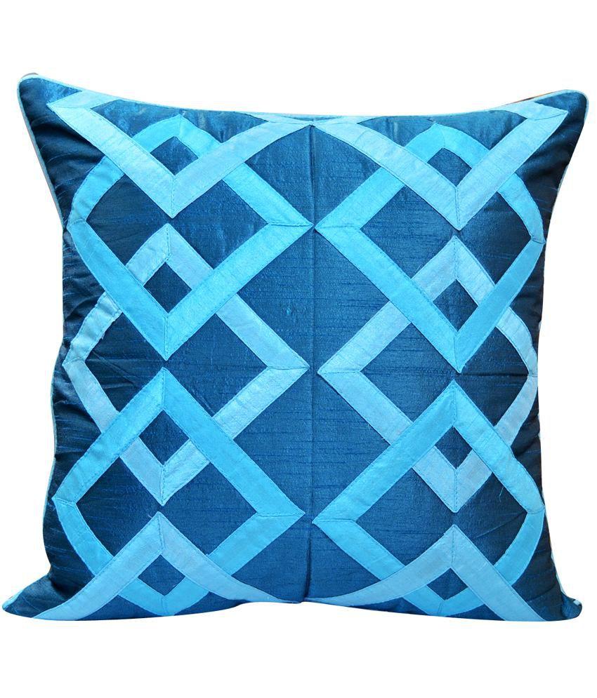 CushionCasa Blue Geometrical Cushion Cover