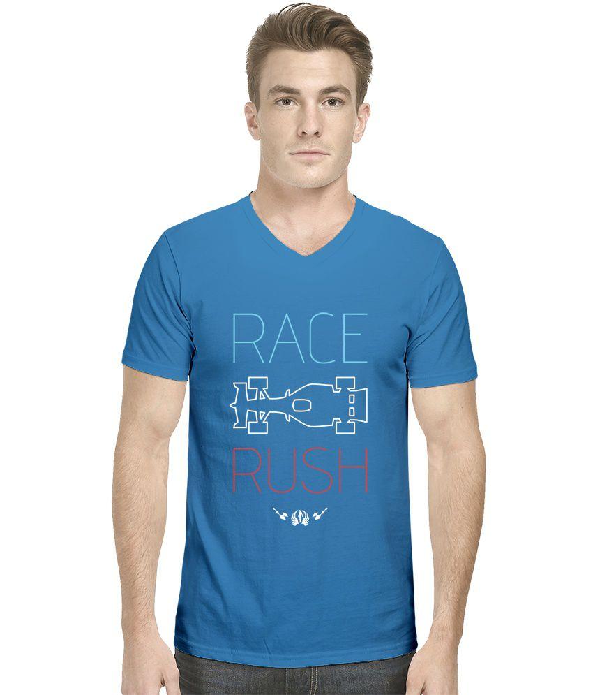 Hueman Blue Cotton T-Shirt