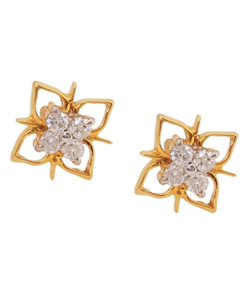 Karuri Jewellers 18kt Gold Traditional Studs