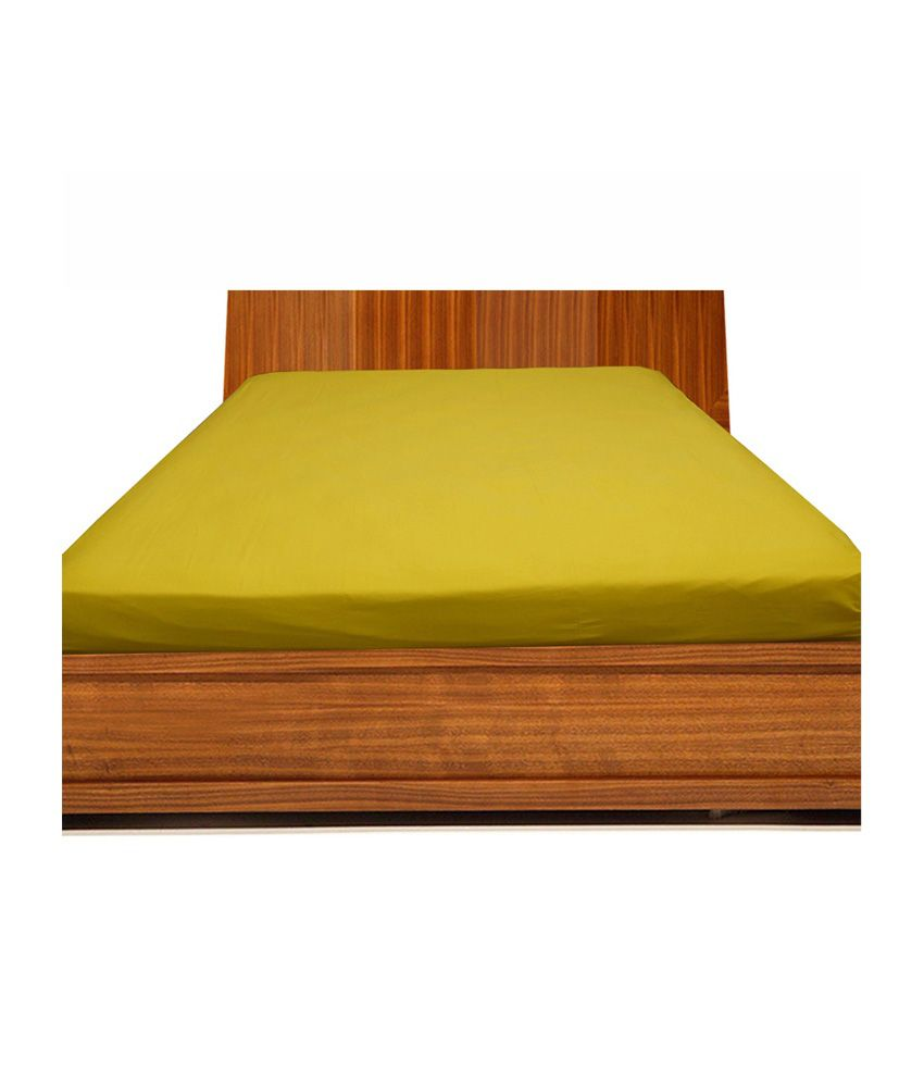 Exceptional Scala Yellow Cotton Fitted Double Bed Sheet ...