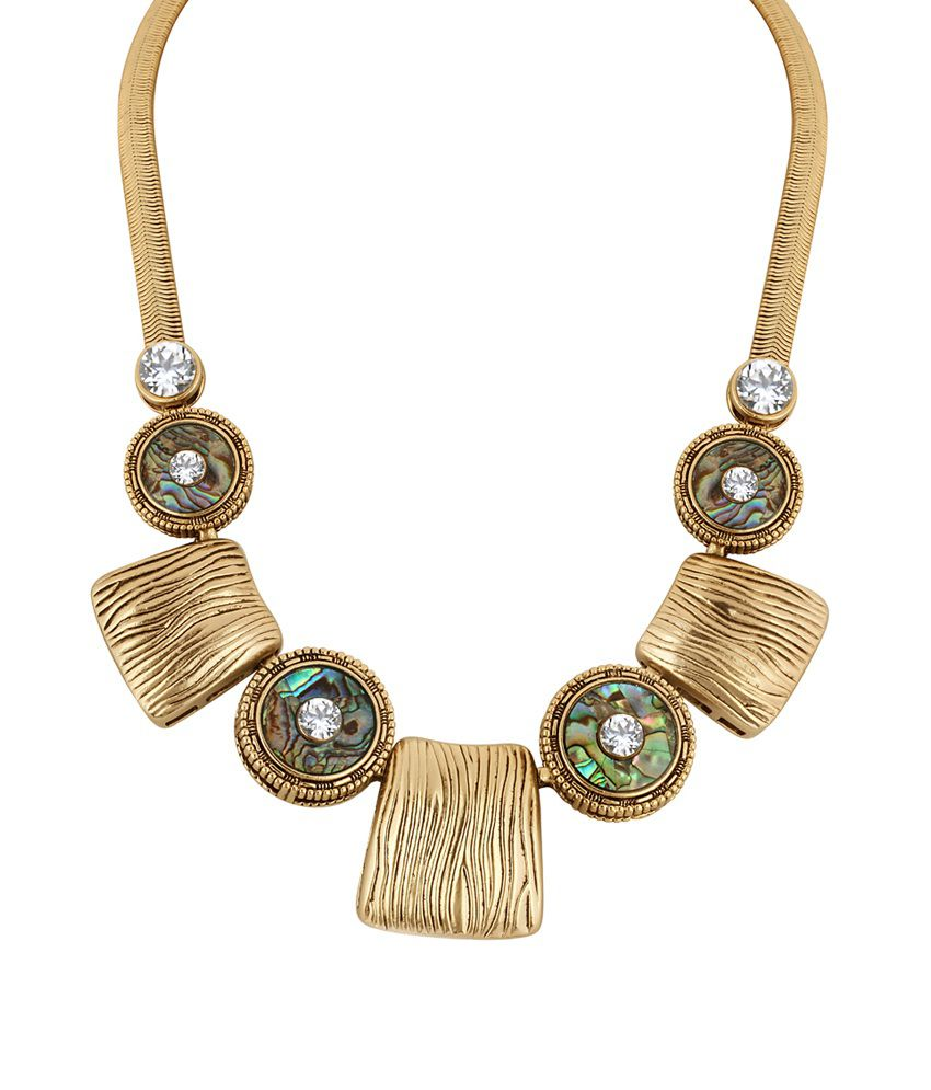 Alamod White Brass Antique Contemporary Necklace Set